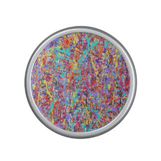 Bright Paint Splatter Abstract Speaker