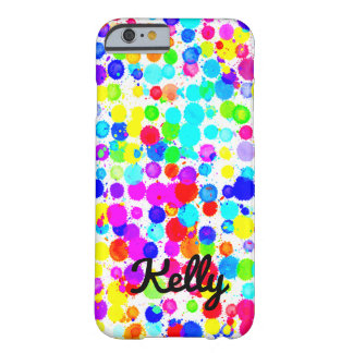 Bright Paint Splatter Personalized Phone Case