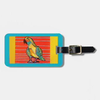 Bright Parrot Luggage Tag