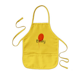 Bright Party Balloon Add Name Kids Apron