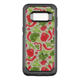 Bright pattern from fresh vegetables OtterBox commuter samsung galaxy s8 case