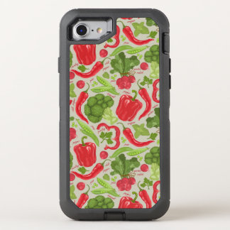 Bright pattern from fresh vegetables OtterBox defender iPhone 7 case