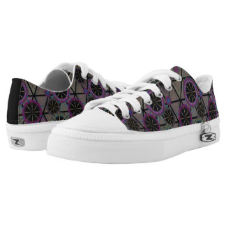 Bright pattern of circles low tops