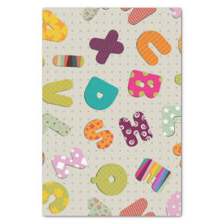 Bright Patterned Letters Tissue Paper