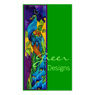 Bright Peacock Pack Of Standard Business Cards