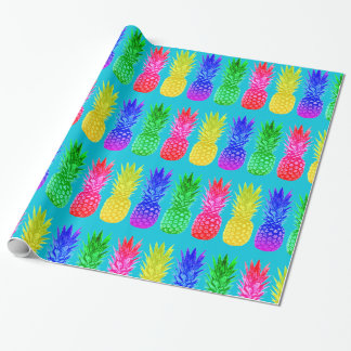 Bright Pineapples Wrapping Paper