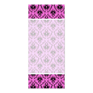 Bright Pink and Black Damask pattern. Custom Invites