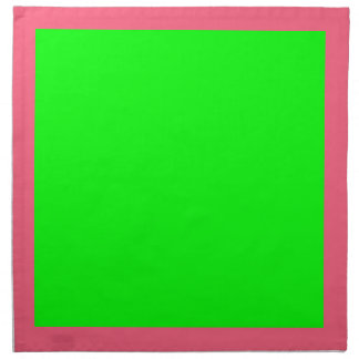 Bright Pink and Lime Napkins