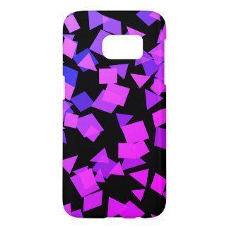 Bright Pink and Purple Confetti on Black