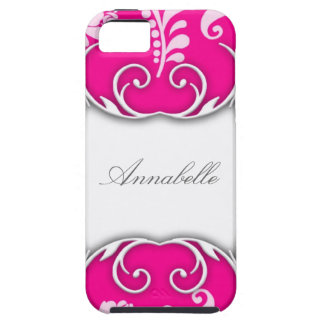Bright Pink and White Floral Design Case For The iPhone 5