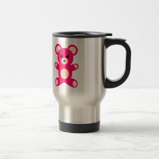 Bright Pink Baby Teddy Bear Mugs