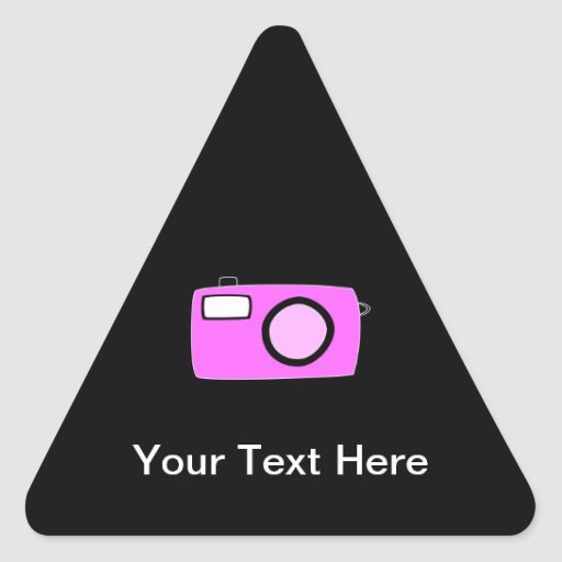 Bright Pink Camera. On Black. Stickers