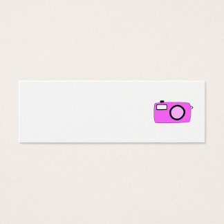 Bright Pink Camera. On White. Mini Business Card