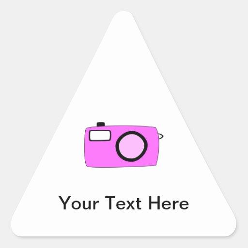 Bright Pink Camera. On White. Sticker