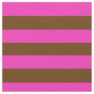 Bright pink, coco brown stipe, stripes fabric