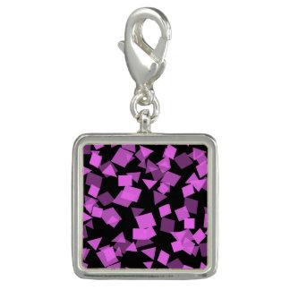 Bright Pink Confetti on Black