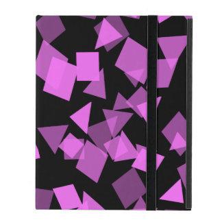 Bright Pink Confetti on Black iPad Case