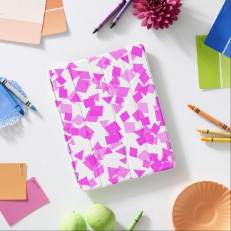 Bright Pink Confetti on White iPad Cover