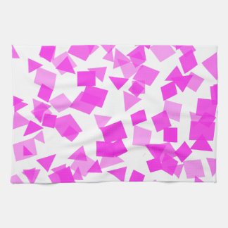 Bright Pink Confetti on White Kitchen Towels
