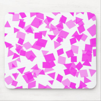 Bright Pink Confetti on White Mouse Pad