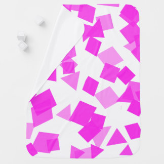 Bright Pink Confetti on White Swaddle Blankets