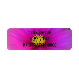 Bright Pink Cosmo Return Address Label