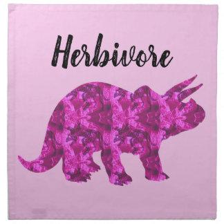 Bright Pink Dinosaur Herbivore Cloth Napkin