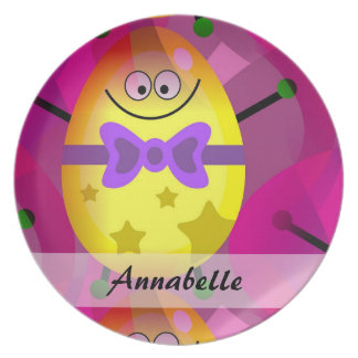 Bright Pink Easter Plate
