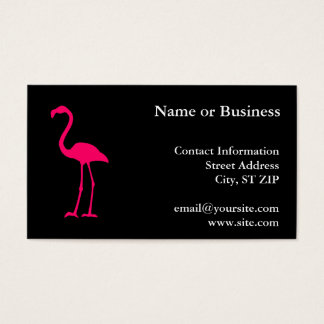 Bright Pink Flamingo Business Card