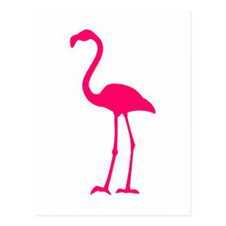 Bright Pink Flamingo Postcard