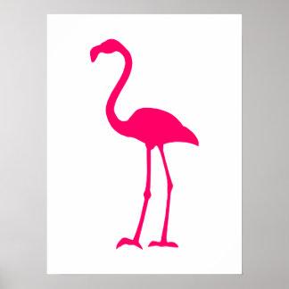 Bright Pink Flamingo Poster