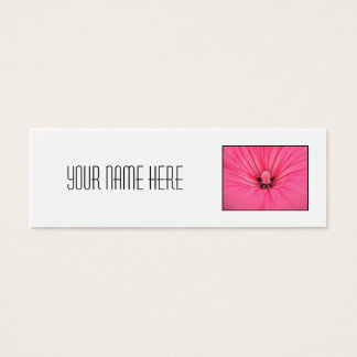 Bright Pink Flower. Mini Business Card