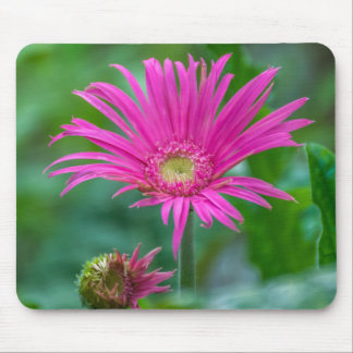 Bright pink flower mousepad