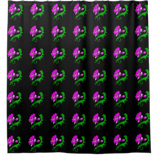 Bright Pink Flower Shower Curtain