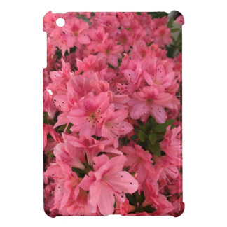 Bright pink flowering bush case for the iPad mini