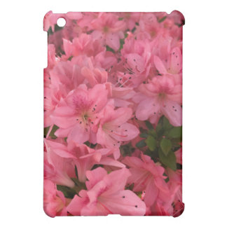 Bright pink flowering bush in the spring case for the iPad mini