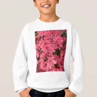 Bright pink flowering bush sweatshirt