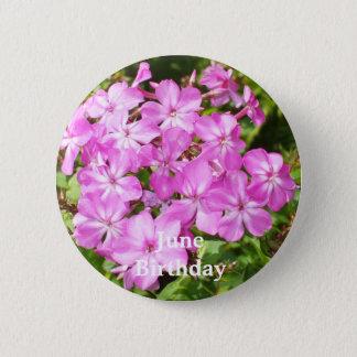 Bright Pink Flowers 6 Cm Round Badge