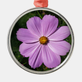 bright pink flowers metal ornament