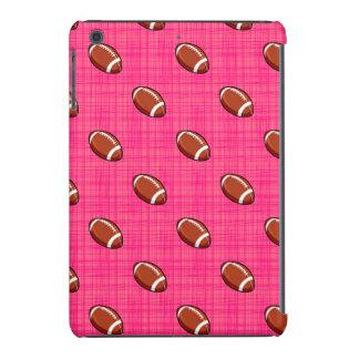 Bright Pink Football Pattern iPad Mini Retina Cover