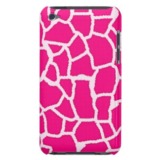 Bright Pink Giraffe Animal Print iPod Touch Covers