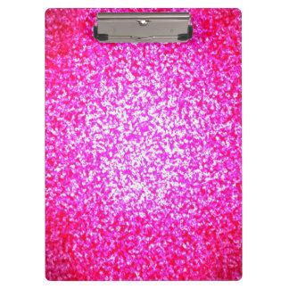 Bright pink glitter clipboard