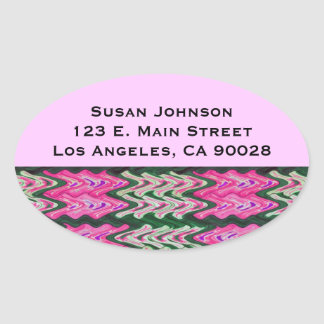 Bright Pink Green Abstract Pattern Stickers