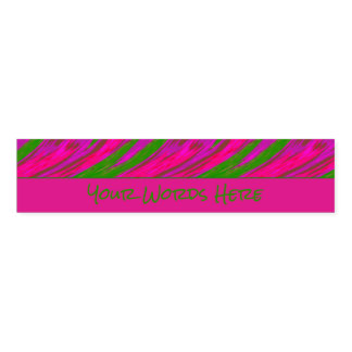Bright Pink Green Color Swish Napkin Band