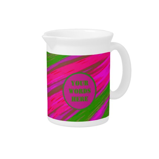 Bright Pink Green Colour Swish Abstract Drink Pitchers