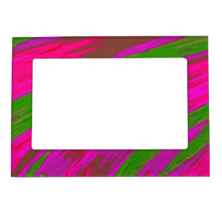 Bright Pink Green Modern Colorful Abstract Magnetic Frame