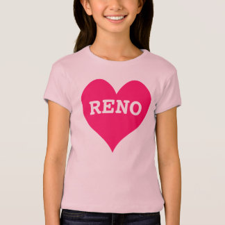 Bright Pink Heart Reno T-Shirt