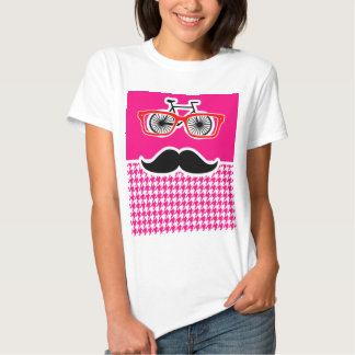 Bright Pink Houndstooth.; Hipster Tshirt