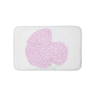 Bright Pink Hydrangea Bath Mat