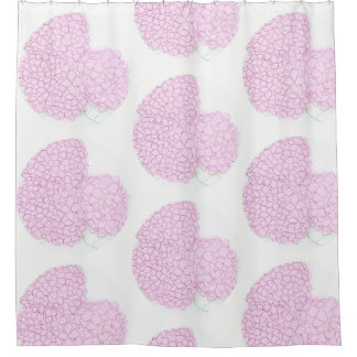 Bright Pink Hydrangea Shower Curtains